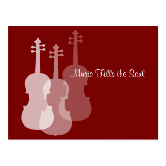 Violin Music Fills the Soul in Your Color Choice Postcard