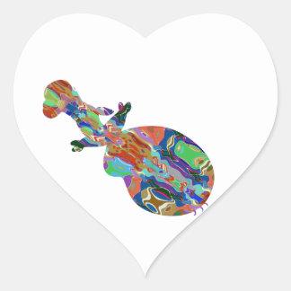 VIOLIN Music Insrument Abstract Colorful Art fun Heart Sticker