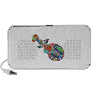 VIOLIN Music Insrument Abstract Colorful Art fun Mini Speakers
