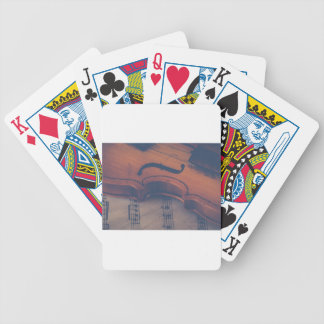 Violin Music Instrument Classic Musical Instrument Bicycle Playing Cards