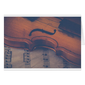 Violin Music Instrument Classic Musical Instrument Card