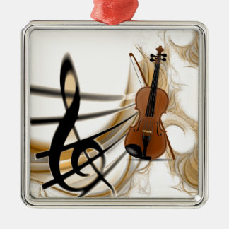 Violin Music Metal Ornament