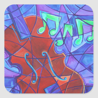 Violin Music Mosaic Art Sticker