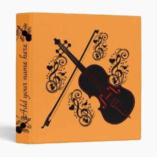 Violin,Music to my soul_ 3 Ring Binder