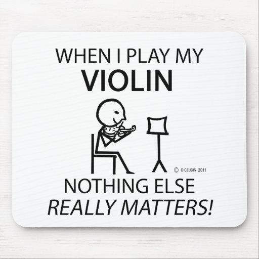 Violin, Nothing Else Matters Mouse Pads
