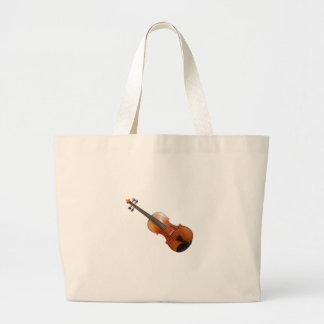 Violin on a white background. large tote bag