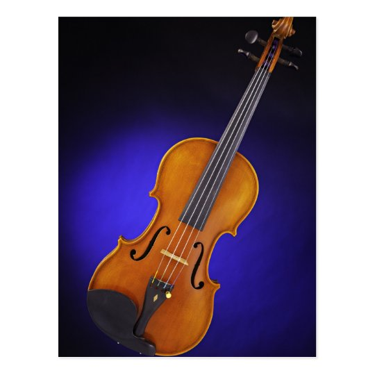 Violin or Viola Blue Postcard