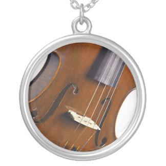 Violin or Viola Round Necklace