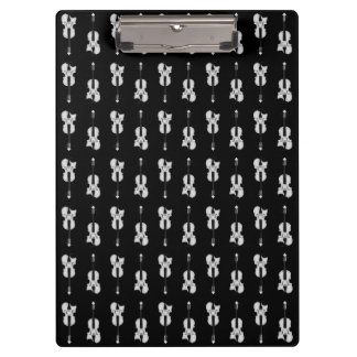 Violin Pattern - Black and White Clipboard