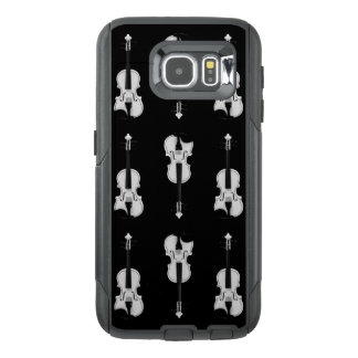 Violin Pattern - Black and White OtterBox Samsung Galaxy S6 Case