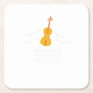 Violin Player Gif You Can Be A Violinist Square Paper Coaster