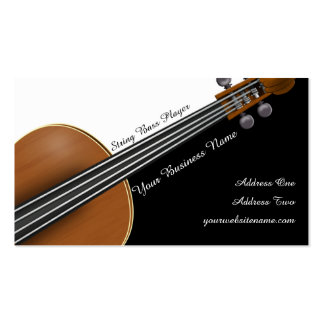 Violin Player Pack Of Standard Business Cards