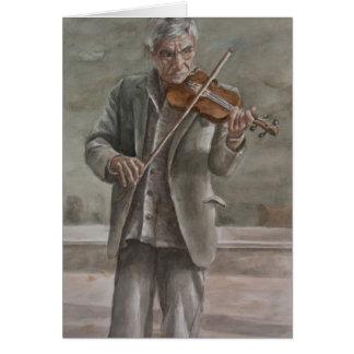 Violin Player, Subotica Card