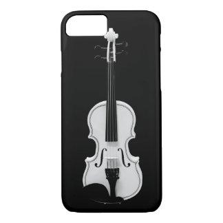 Violin Portrait - Black and White Photograph iPhone 7 Case