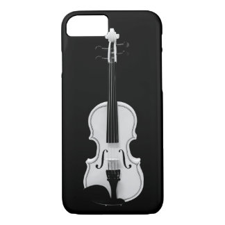 Violin Portrait - Black and White Photograph iPhone 8/7 Case