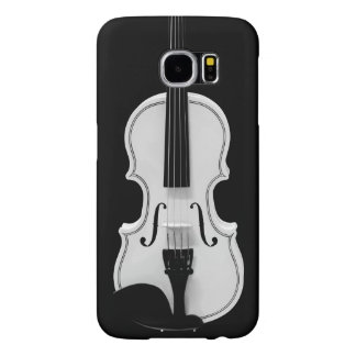 Violin Portrait - Black and White Photograph Samsung Galaxy S6 Case