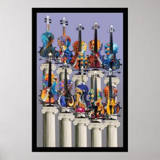 Violin Poster, Violin Music Wall Art, Violin Art Poster
