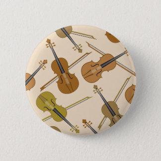 Violin Print Pattern 2 Inch Round Button