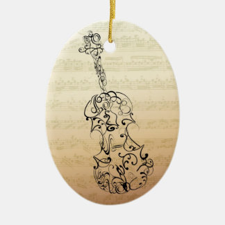 Violin Scrawl Bach Manuscript Ornament