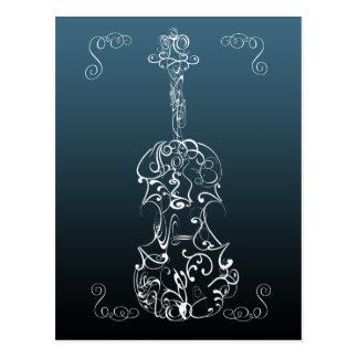 Violin Scrawl Postcard