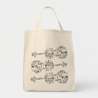 Violin Scrawl Tote Bag