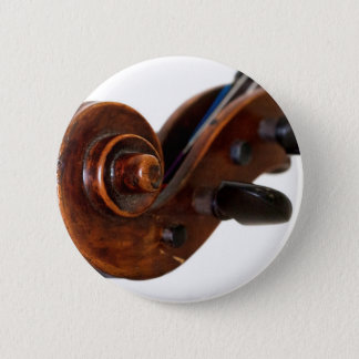 Violin Scroll 2 Inch Round Button