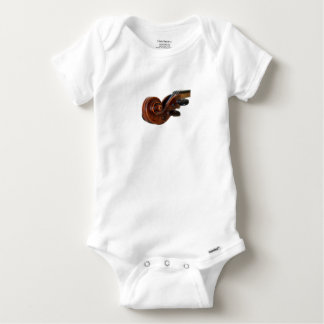 Violin Scroll Baby Onesie