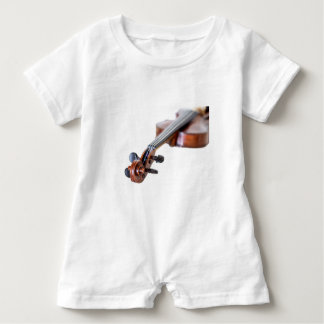 Violin scroll baby romper