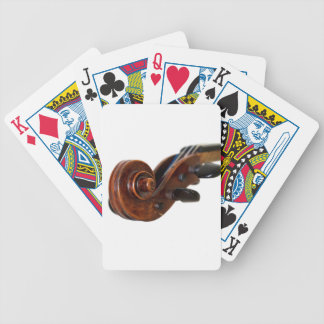 Violin Scroll Bicycle Playing Cards