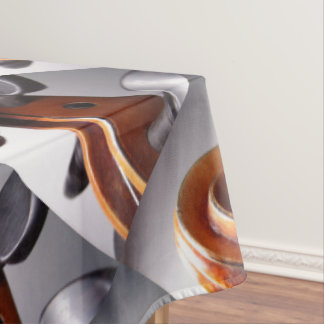 Violin Scroll By Leslie Harlow Designs Tablecloth