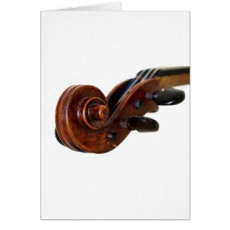 Violin Scroll Card