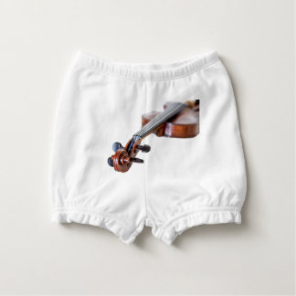 Violin scroll diaper cover