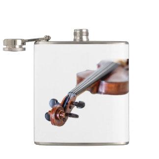 Violin scroll hip flask