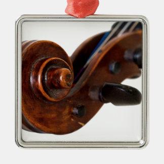 Violin Scroll Metal Ornament