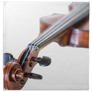 Violin scroll napkin