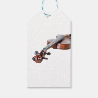 Violin scroll pack of gift tags