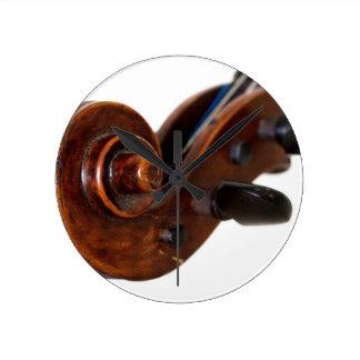 Violin Scroll Round Clock