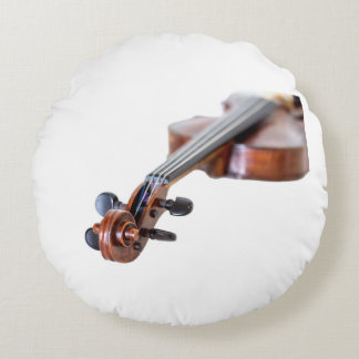 Violin scroll round pillow