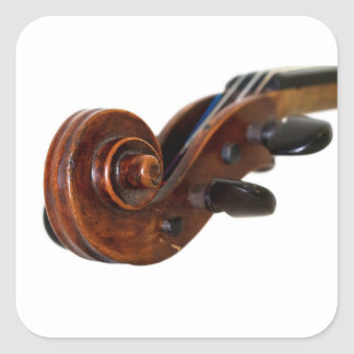Violin Scroll Square Sticker