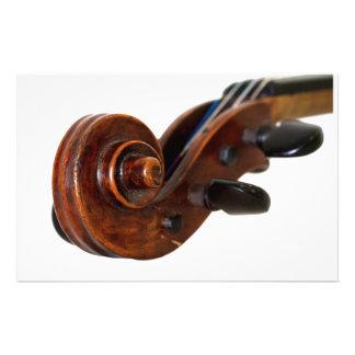 Violin Scroll Stationery