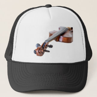 Violin scroll trucker hat