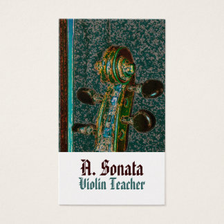 Violin Scroll Two Business Card