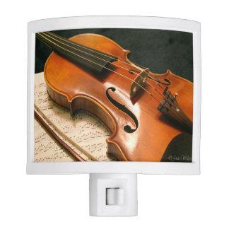 Violin & Sheet Music Nightlight Night Lite