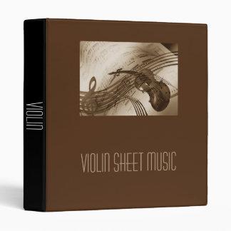 Violin Sheet Music student folder portfolio Binder