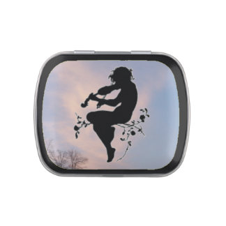 VIOLIN SILHOUETTE-CANDY TIN