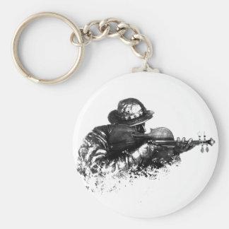 violin sniper basic round button keychain