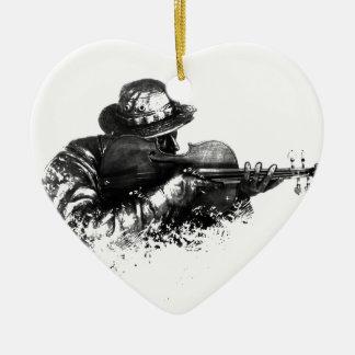 violin sniper ceramic ornament