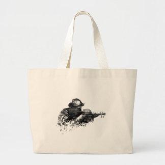 violin sniper large tote bag