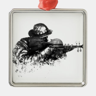 violin sniper metal ornament