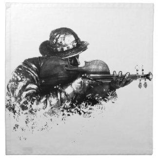 violin sniper napkin
